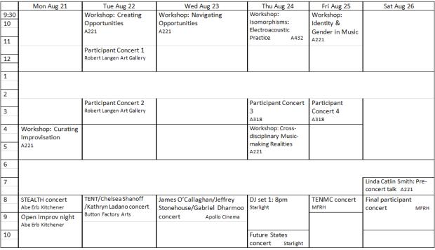 WRCMS schedule web