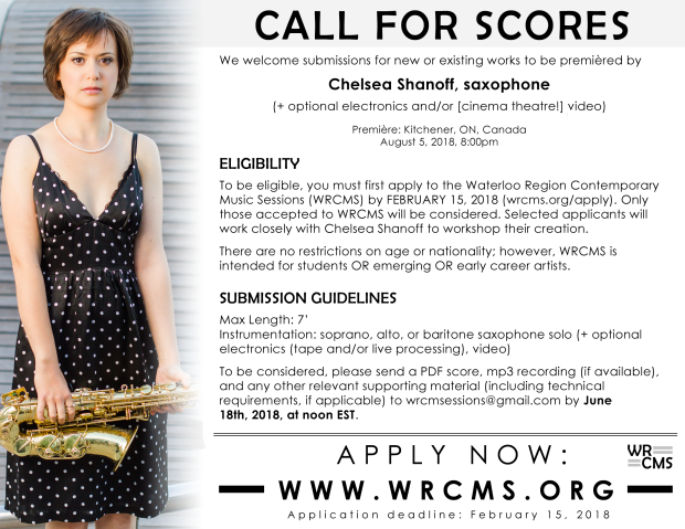 WRCMS2018 Call for Scores Chelsea Shanoff